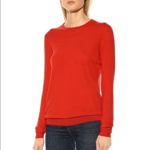 Joseph Red 100% Cashmere Long sleeve sweater